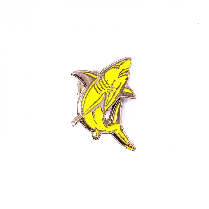Unique Design Metal Lapel Pins , Gold Plated Hard Enamel Badges
