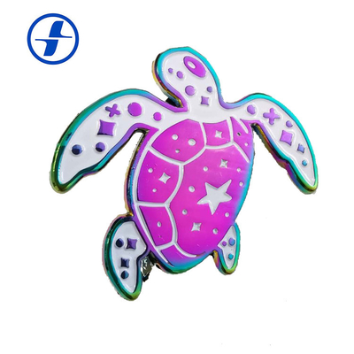 China Hot selling custom design Rainbow plated metal soft enamel lapel pins supplier