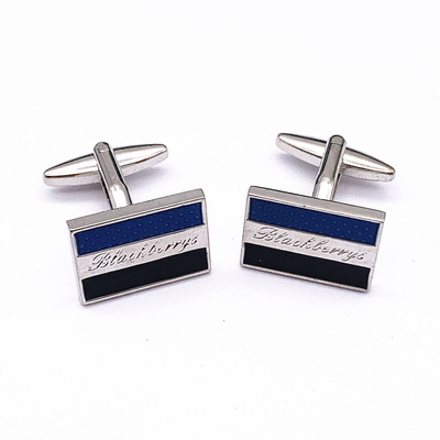 Metal Plated Mens Fashion Cufflinks , Logo Customized Cool Mens Cufflinks