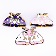 Butterfly Shape Hard Enamel Lapel Pins Customized Size For Collectible
