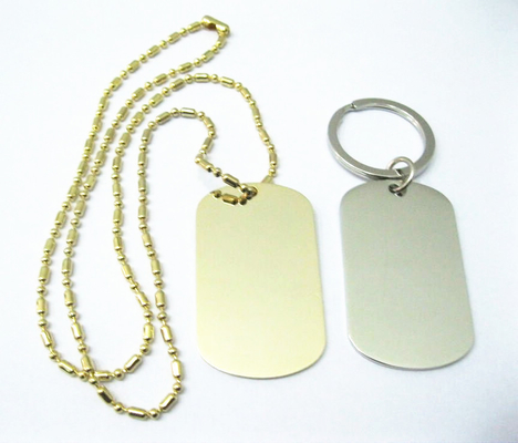 Zinc Alloy Stainless Steel Dog Tags , Aluminum Material Custom Engraved Dog Tags