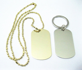 China Zinc Alloy Stainless Steel Dog Tags , Aluminum Material Custom Engraved Dog Tags supplier