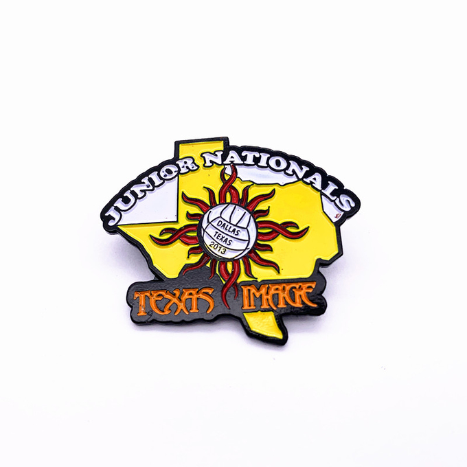 Promotional Personalised Pin Badges , Custom Made Enamel Pins With Epoxy