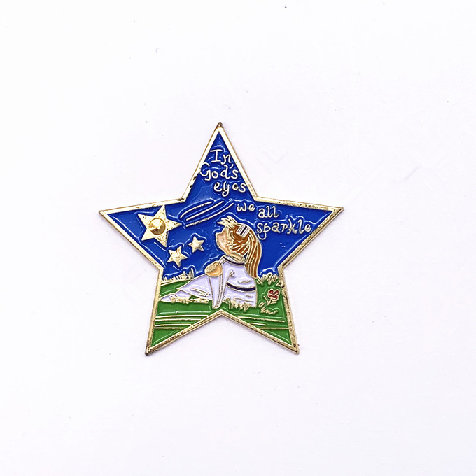 Gold Silver Hard Soft Enamel Lapel Pins , 1 Inch Cute Lapel Pins For Collectible